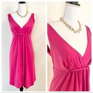 🆕Women's Pink V-Neck Bubble Hem Dress